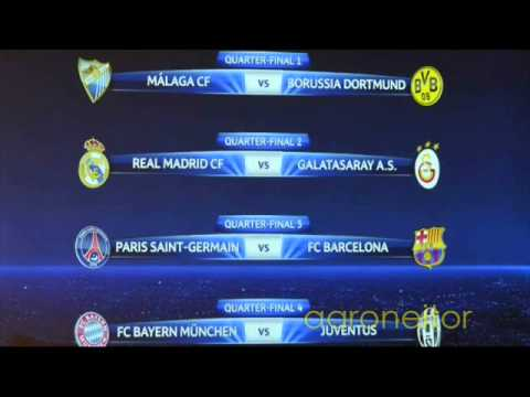Sorteo de cuartos de final de la champions league 2013 for Cuartos de final champions