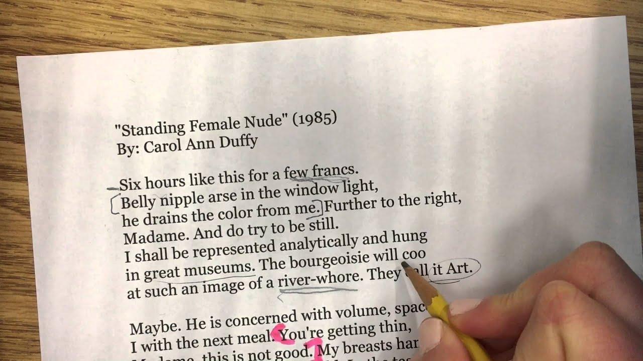 Carol Ann Duffy's 'Standing Female Nude