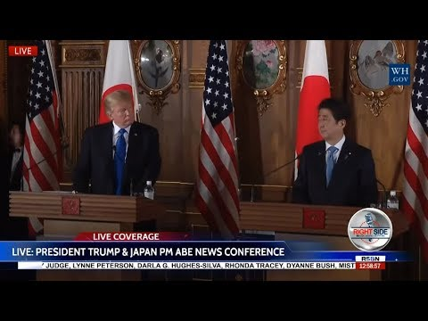 WATCH: President TRUMP Press Conference in Tokyo with Japanese PM Shinzō Abe 11/6/17
