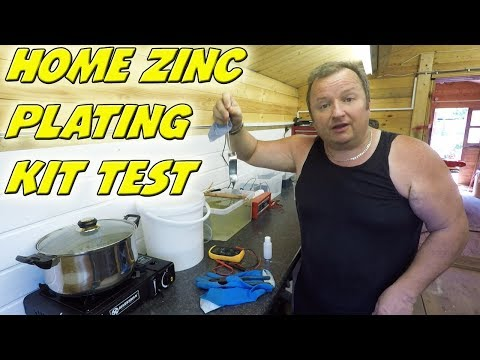 Home Zinc Plating Kit Set Up   Gateros 10 Litre Kit
