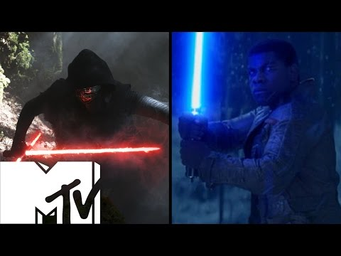 Star Wars: The Force Awakens Lightsaber Fights - Behind The Scenes | MTV