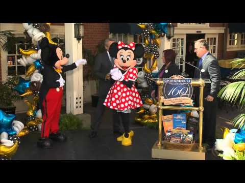 Ghirardelli Chocolate Shop grand opening at Disney California Adventure theme park
