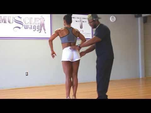 Figure Posing practice NPC athlete Nidia B