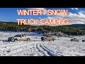 Winter Truck Camping - Tacoma Gear, Snow, Overlanding, Car Camping, Truck Tent - whatever.