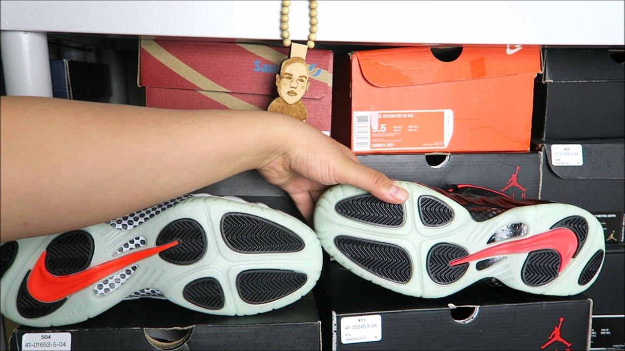 494473e34cc Nike Air Foamposite Yeezy Glow in The Dark Sneaker Battle