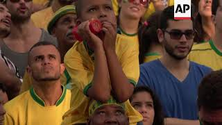 Brazil fans savour win over Serbia to move on to WC knowckout stage