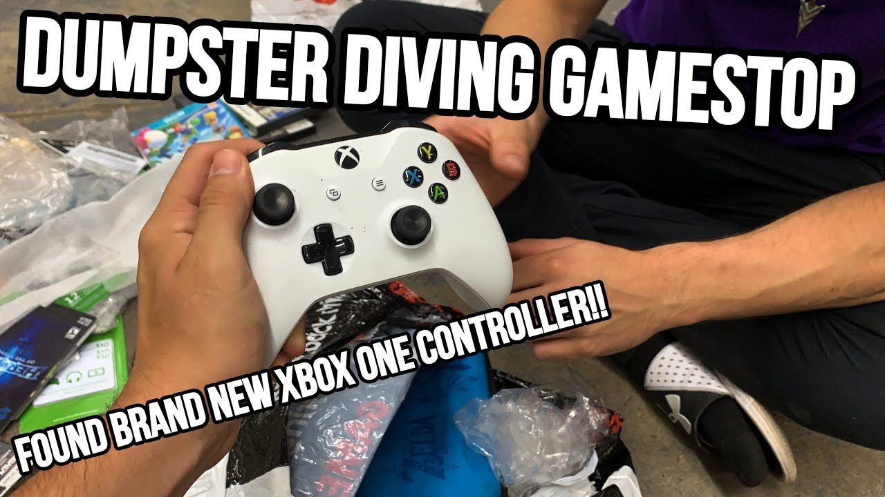 GAMESTOP DUMPSTER DIVING! FOUND XBOX ONE CONTROLLER, BRAND NEW PS4 HEADSET!!