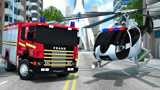 Fire Truck Helps Water Tank Truck to pass the Bridge | Wheel City Heroes