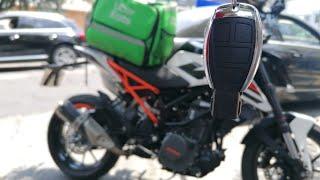 SIN MIEDO 😮  aque me bajen de la moto trabajando en UBER EATS😔 (GPS para duke 250) 🛵