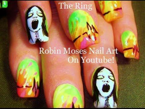 DIY Halloween Horror Film Nails | The Ring Nail Art Design Tutorial