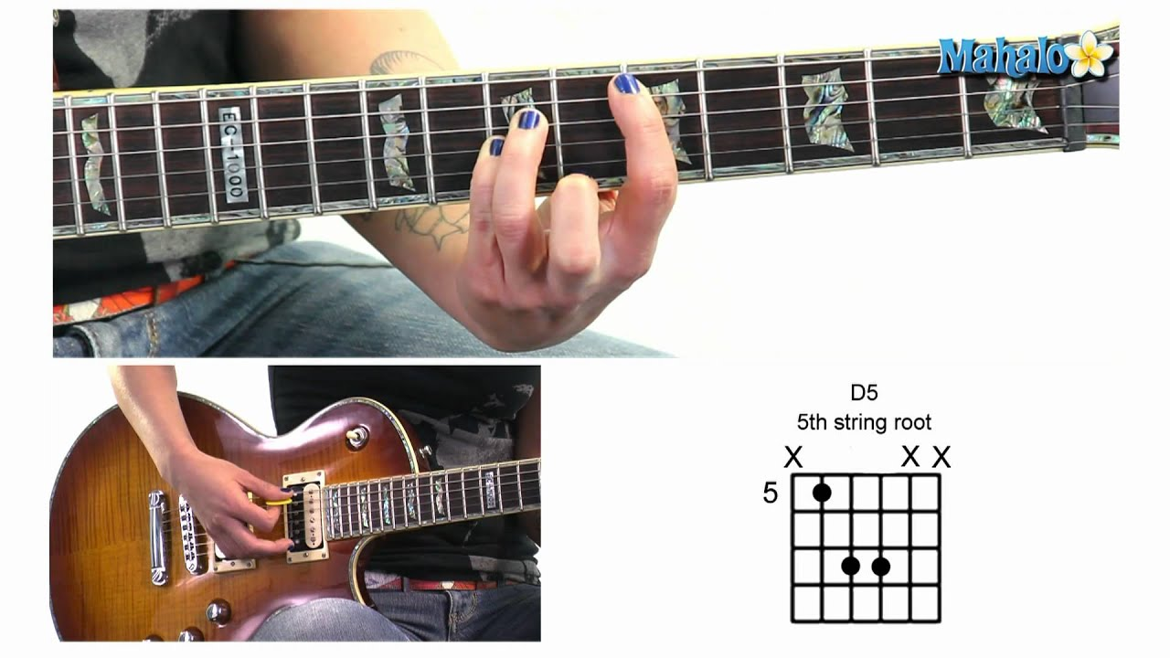How To Play D5 Power Chord In 5th Position And 5th String Root On