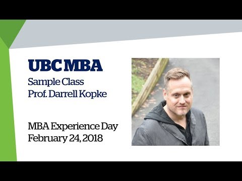 UBC MBA Experience Day 2018: Pitch Decks & Pitching for Venture Financing Sample Class