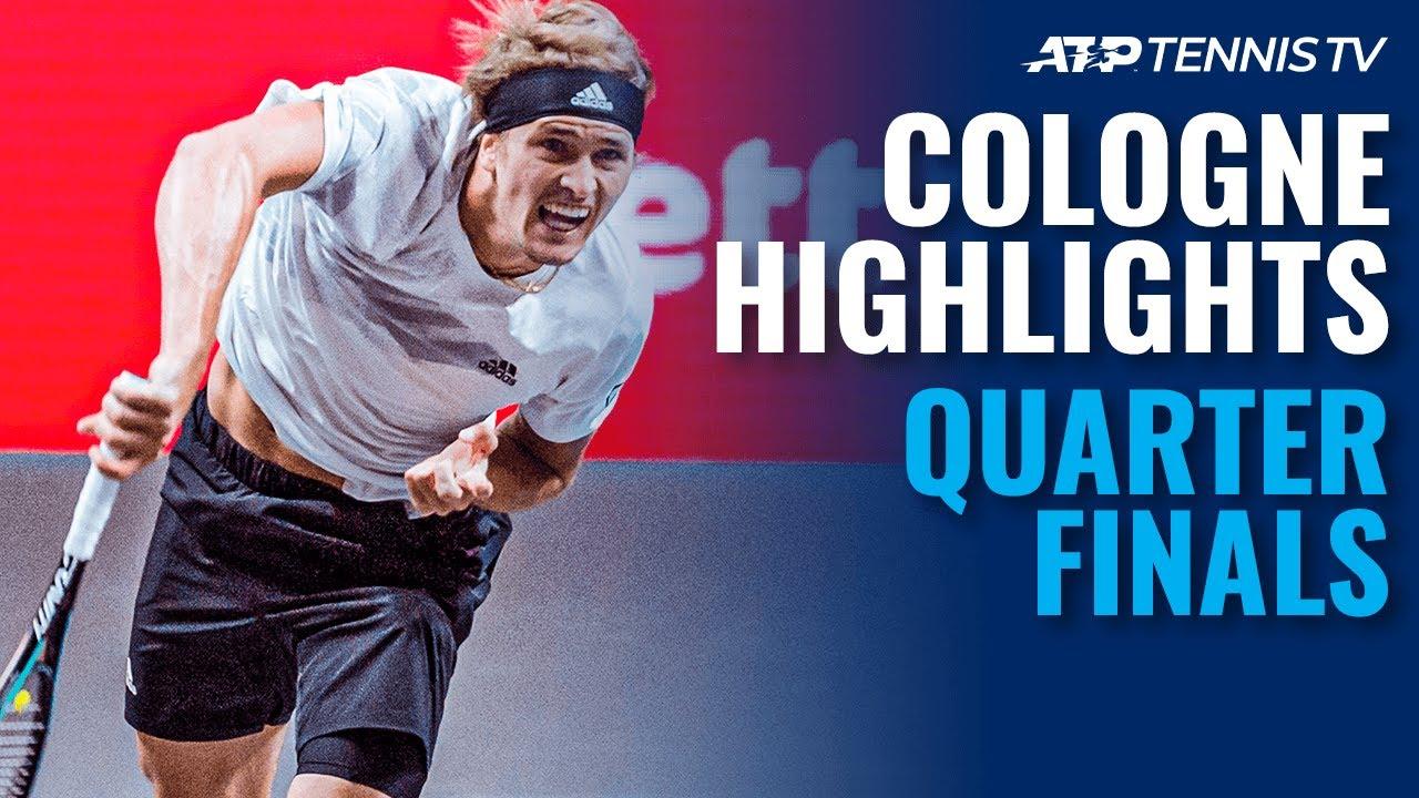 Zverev & Bautista Agut Battle Into Semis   Cologne 1 2020 Quarter-Final Highlights