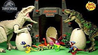 Люк Новий Світ Юрського періоду яйця динозаврів забавні іграшки відео для дітей динозаврики