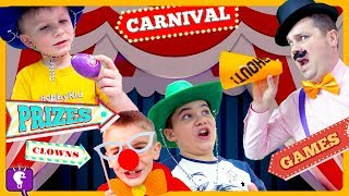 CARNIVAL ADVENTURE! Prize Game Challenges - Can They Win HobbyCarney? by HobbyKidsTV