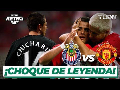 FUTBOL RETRO: ¡'Chicharito' jugó con dos equipos el mismo partido!   Chivas 3-2 Man United   TUDN