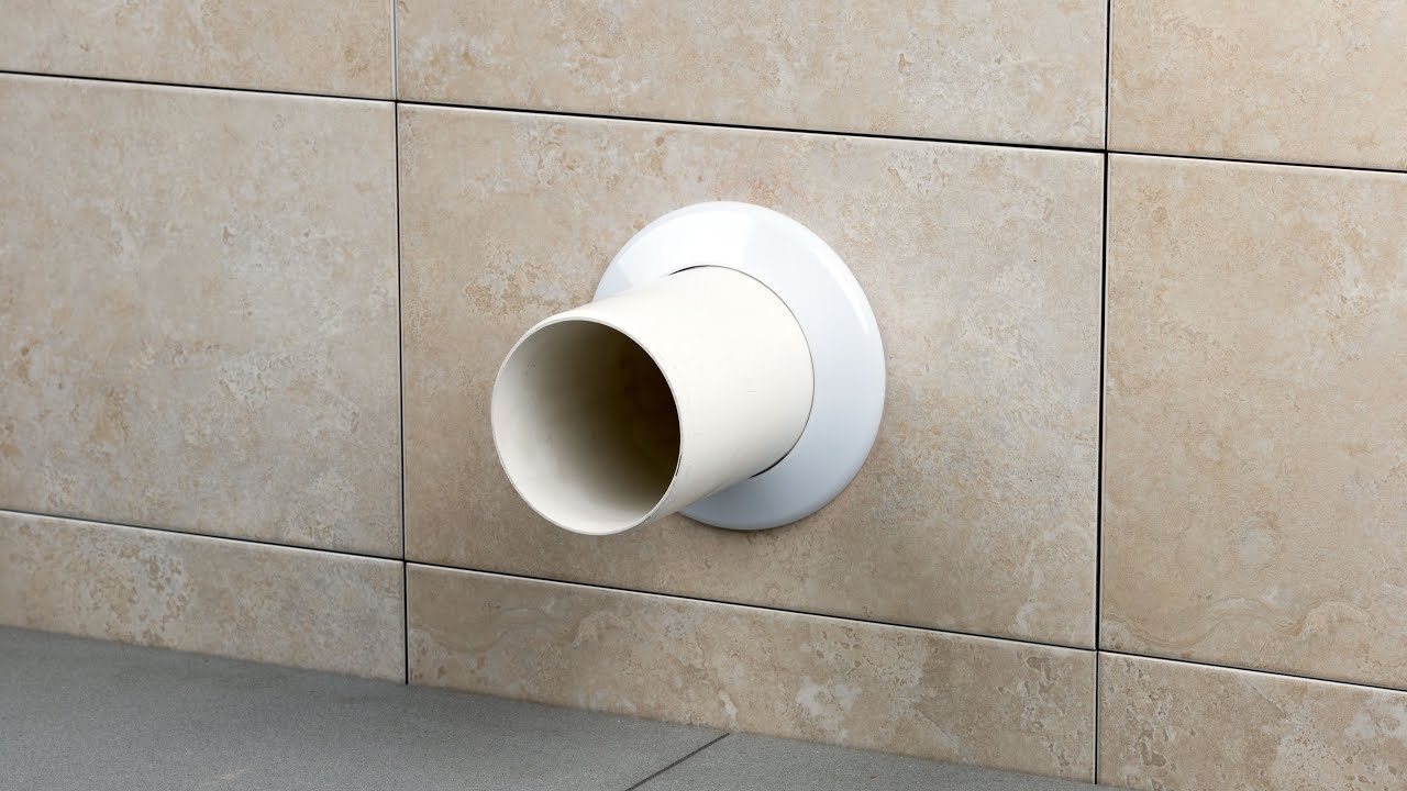 Tiling Around Pipes Using Pipe Collars, How To Tile Around A Waste Pipe Look Like