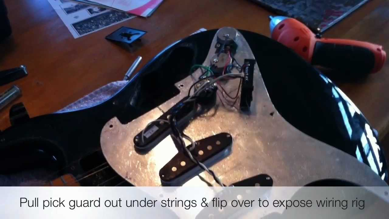 Installing a Seymour Duncan humbucker (JB Jr) - YouTube