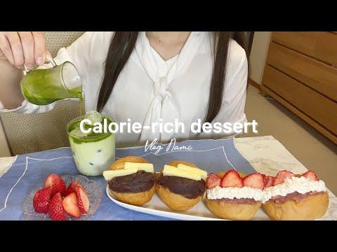 OLのストレスは甘いもので解消💣🍓業務スーパーで買い出ししてカロリーという名前の料理を作った休日 What I made dish is called Calories