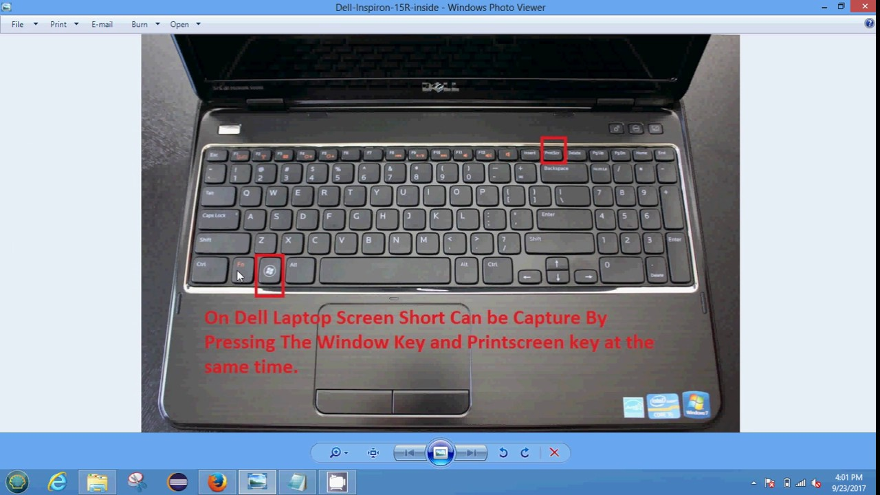 Take Screenshot From DEL Laptop in Windows - YouTube