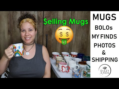 MUGS! BOLOs, Thrift Finds, Taking Pictures For Ebay, & Shipping! My All About Mugs Video