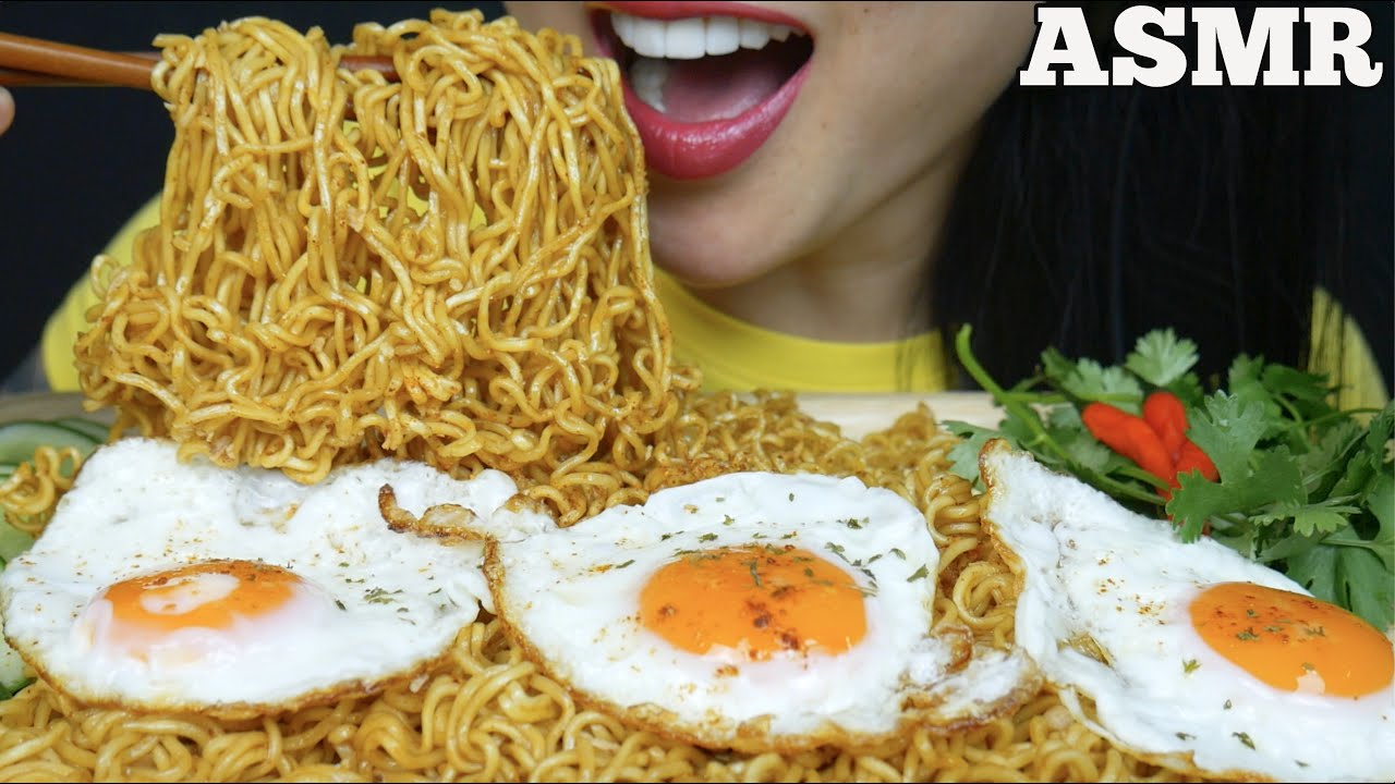 Asmr Spicy Indomie Mi Goreng Noodles Fried Eggs Eating Sounds No Talking Sas Asmr Youtube 1 roll sweet potato noodles (dangmyeon) 1 tbs maggie soy sauce 1 tbs sesame oil 1 tsp olive oil 1 small onion 1carrot sprinkle. asmr spicy indomie mi goreng noodles fried eggs eating sounds no talking sas asmr