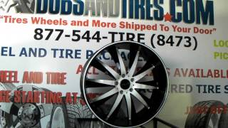 www.DUBSandTIRES.com 22 Inch Helo HE-851 HE851 Machined and Black Rims Custom White Camaro wheels