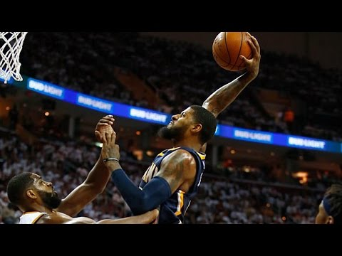 Watch: Paul George VIOLENTLY Dunks on Tristan Thompson