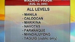 UB: Alamin ang mga eskwelahang walangpasok ngayong araw (Aug. 22, 2013)