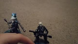 New fortnite battle royale mini figs. Skull trooper and ran a rock. (Part 1)