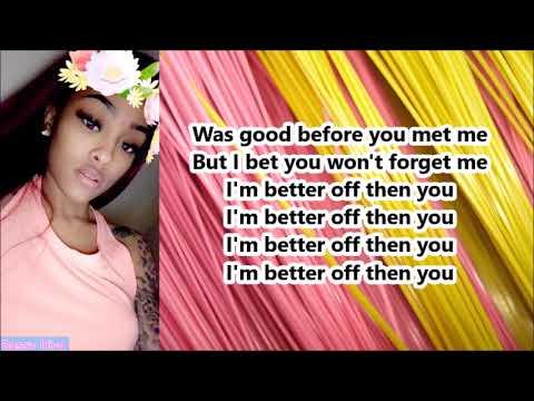 Ann Marie - Better Off (Lyrics)