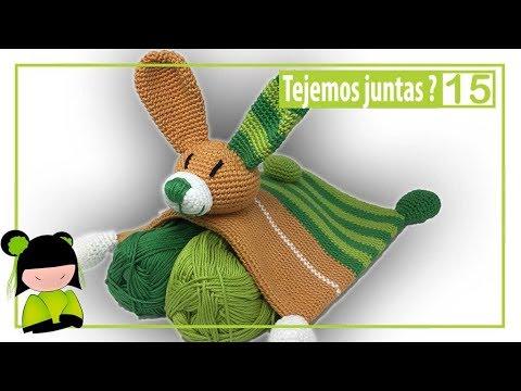 Manta de apego amigurumi en forma de conejo 15