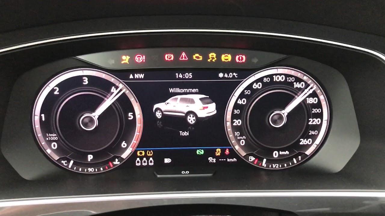 Zeigertest, zeigerwischen Active Info Display VW Tiguan 2 ...