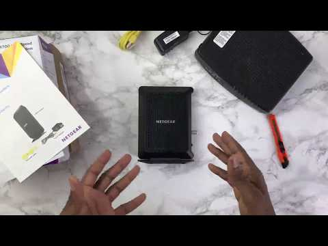 Unboxing & Review Netgear CM700 High Speed Modem, Compatible with all Cable Providers including Xfin