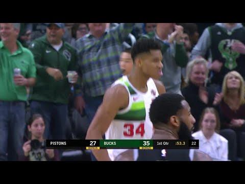 Bucks - Bucks steamroll Pistons on New Year's Day 121-98