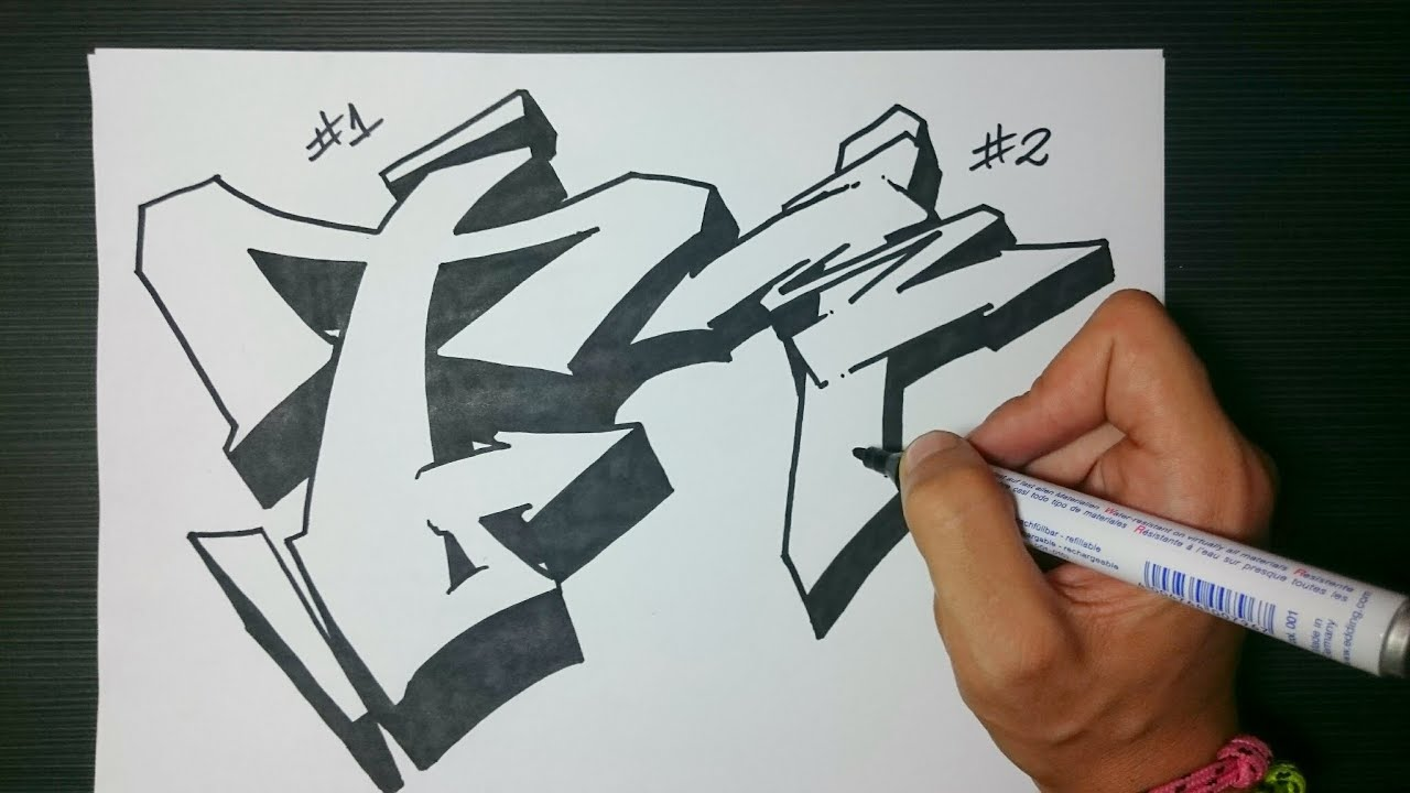 How To Draw Graffiti Letter T On Paper