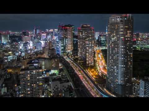 4K Timelapse Tokyo Night at World Trade Center Building
