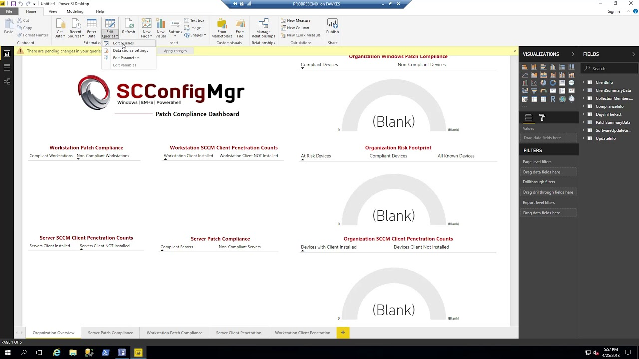 ConfigMgr Patch Compliance With PowerBI – V1 0 0 7