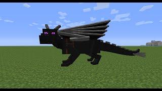 Как сделать статую дракона в Minecraft? [Квадратная красота]