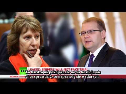 Minister MSZ Estonii Urmas Paet: Snajperzy strzelali do obu stron!