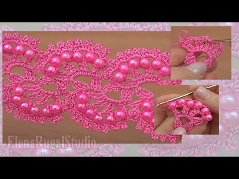 How To Crochet Beaded Tape Tutorial 27 Lace Pattern Youtube