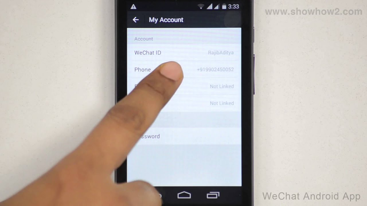 WeChat Android App - How To Change Your phone Number