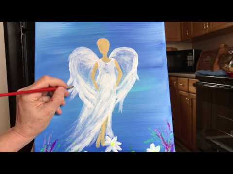 The Angel of Music LIVE Painting Lesson Part Five