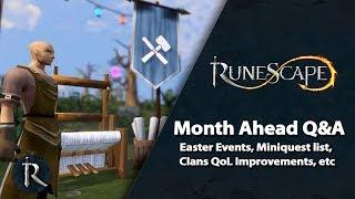RuneScape Month Ahead Q&A (April 2019) - Easter, Clans Improvements, Miniquest list