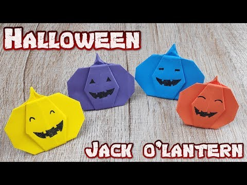 Pumpkin Jack O'lantern Craft - How To Make Pumpkin Halloween Paper - Pumpkin Halloween Tutorial