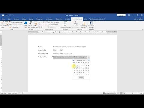 Formulare In Word: Formularfelder Zum Ausfüllen Erstellen – Word-Tutorial