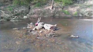 Nasses Abenteuer am Fluß #lustig