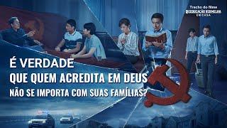 """Filme evangélico """"Reeducação vermelha em casa"""" Trecho 4 – É verdade que quem acredita em Deus não se importa com suas famílias?"""