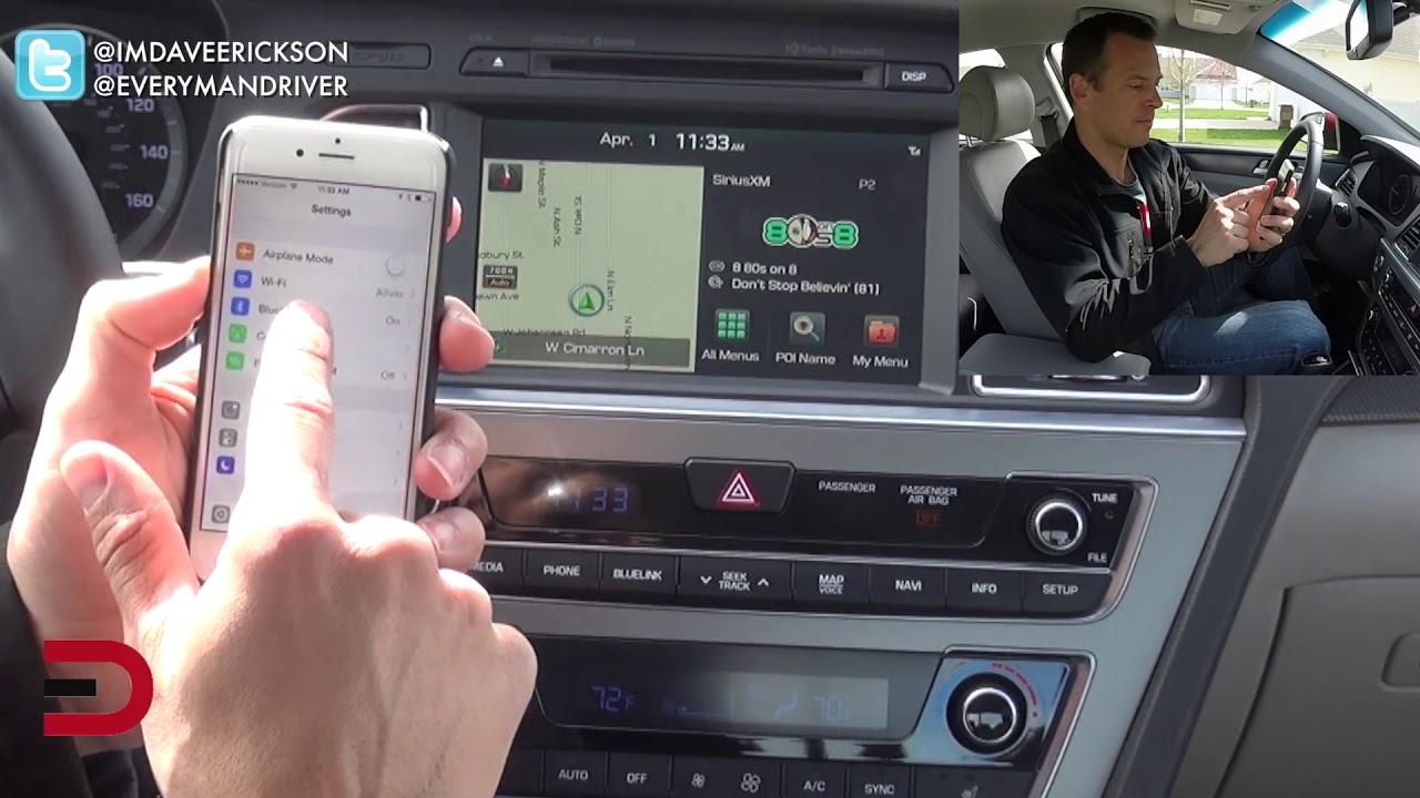 как подключить телефон hyundai avante bluetooth