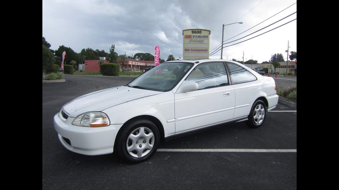 Beautiful SOLD 1998 Honda Civic EX Coupe One Owner Meticulous Motors Inc Florida For  Sale   YouTube